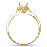 .16ct G SI 14kt Yellow Gold Oval Diamond Semi Mount Ring Size 6.5