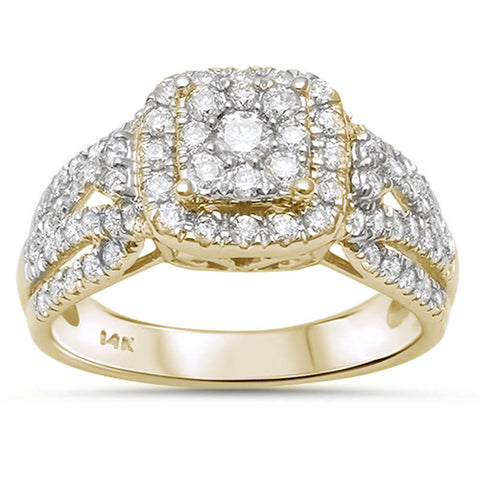 1.00ct 14k Yellow Gold Diamond Engagement Wedding Bridal Set Ring Size 6.5