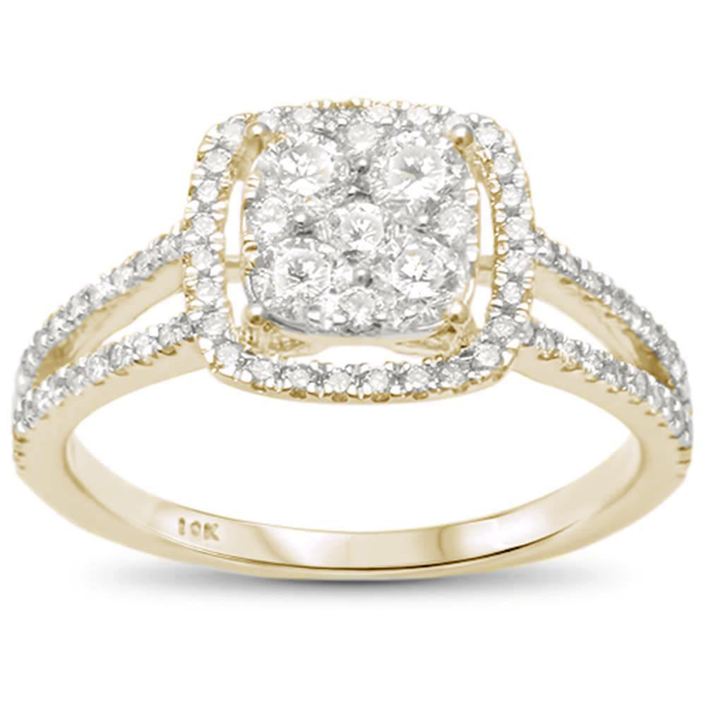 "<span style=""color:purple"">SPECIAL!</span> .78cts 10k Yellow Gold Diamond Engagement Ring Size 6.5"