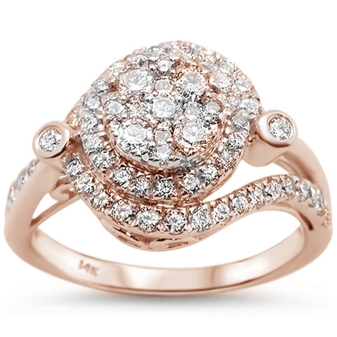 .99ct 14k Rose Gold Diamond Engagement Wedding Ring Size 6.5