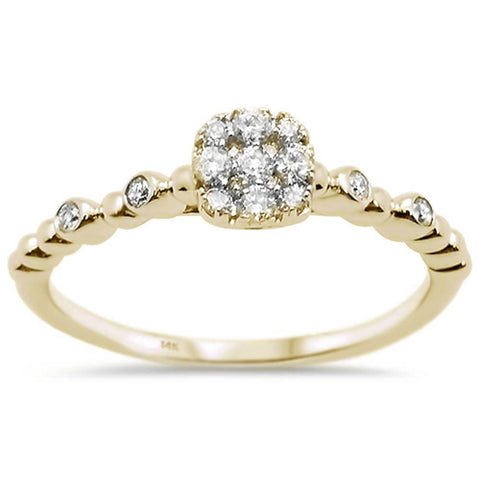 .27ct 14k Yellow Gold Diamond Promise Engagement Ring Size 6.5