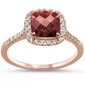 1.55ct 10k Rose Gold Garnet & Diamond Ring Size 6.5
