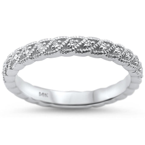 .22cts 14k White Gold Diamond Ring Size 6.5