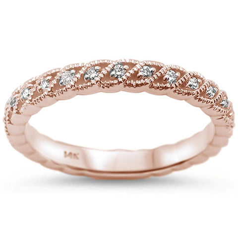 .22cts 14k Rose Gold Diamond Ring Size 6.5