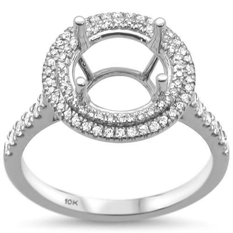 .38cts 10k White Gold & Diamond Semi-Mount Ring