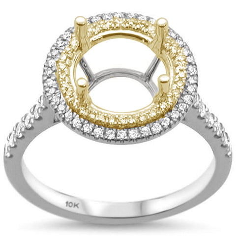 .39cts 10k Two Tone Gold & Diamond Semi-Mount Ring