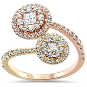 .68ct 14k Two Tone Gold Diamond Ring Size 6.5