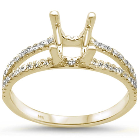 .30ct 14k Yellow Gold Diamond Semi Mount Ring Size 6.5