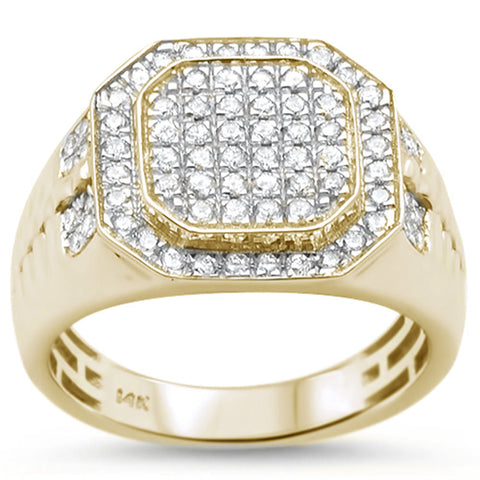 Men's .97ct 14k Yellow Gold Diamond Wedding Ring Size 10