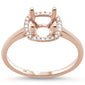 .09cts 14k Rose Gold Diamond Semi Mount Ring Size 6.5