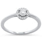 .16ct 14KT White Gold Round Diamond Solitaire Ring Size 6.5