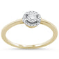 .16ct 14KT Yellow Gold Round Promise Engagement Diamond Ring Size 6.5