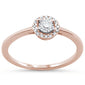 .15cts 14k Rose Gold Diamond Solitaire Engagement Promise Ring Size 6.5