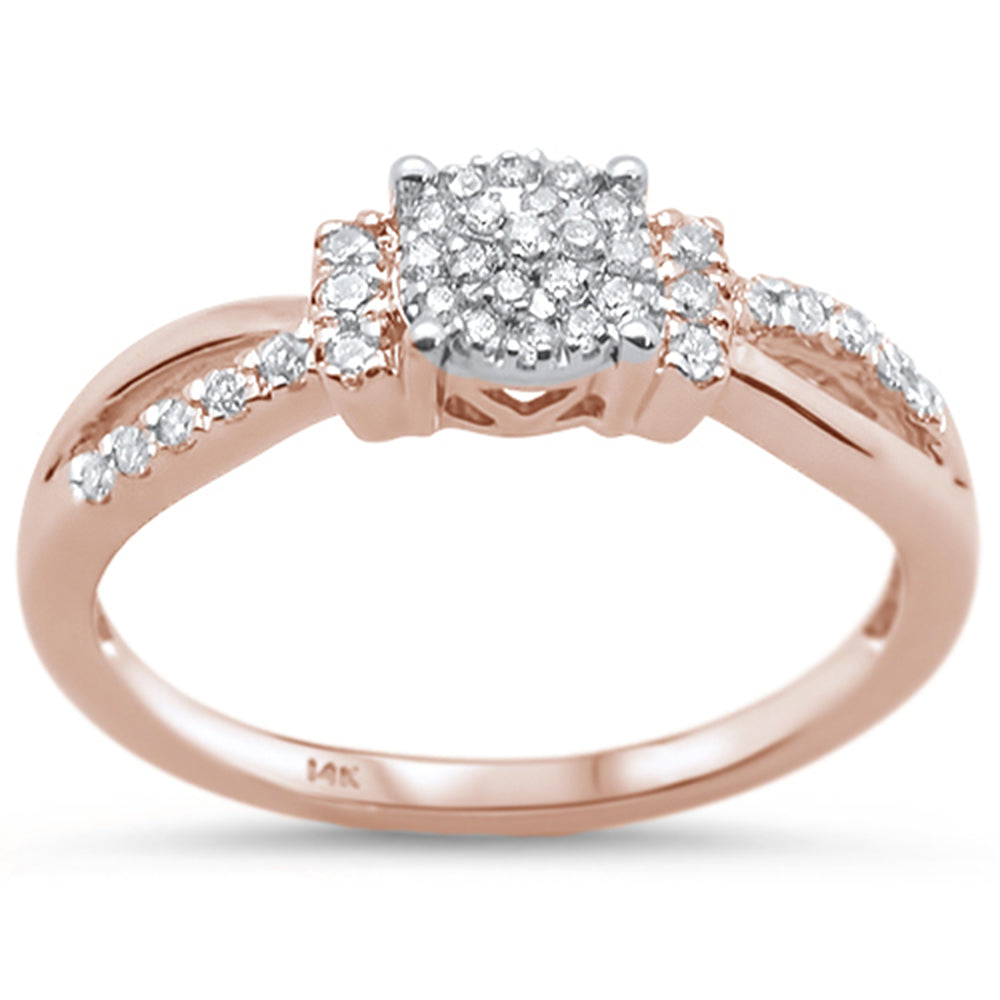 .2ct 14KT Rose Gold Diamond Engagement Wedding Ring Size 6.5