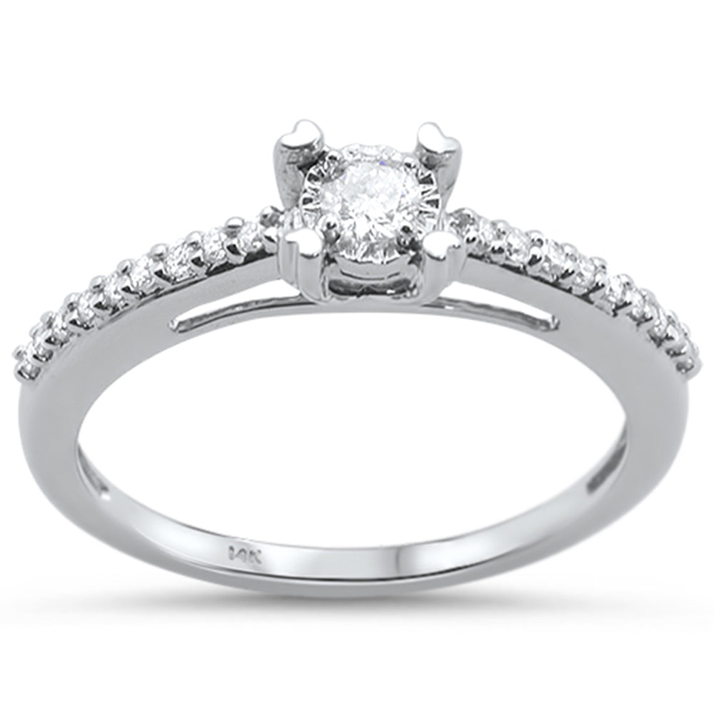 .20ct 14KT White Gold Diamond Round Solitaire Engagement Ring Size 6.5