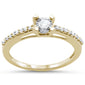 .21cts 14k Yellow Gold Round Diamond Solitaire Engagement Ring Size 6.5