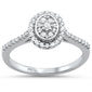 .26ct 14KT White Gold Oval Diamond Ring Size 6.5