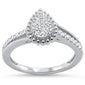 .25ct 14KT White Gold Pear Shape Diamond Engagement Ring Size 6.5