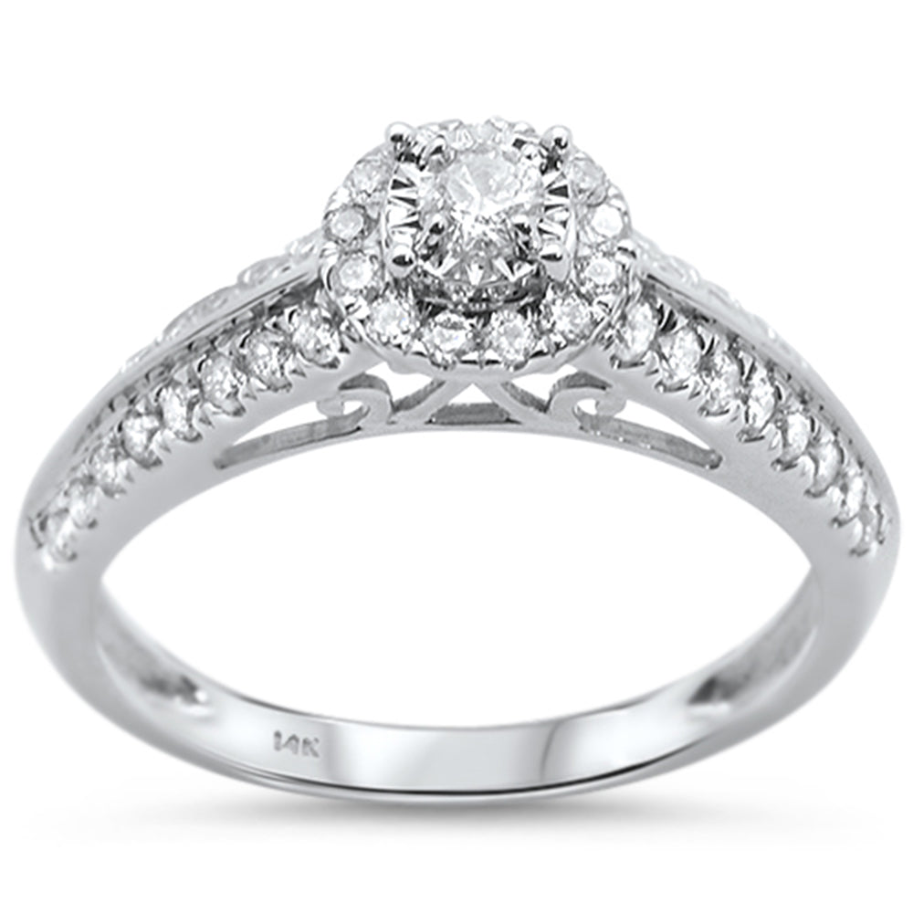 .52ct 14KT White Gold Diamond Engagement Ring Size 6.5