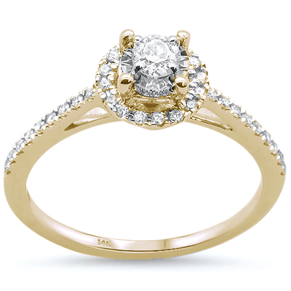 .33cts 14k Yellow Gold Diamond Solitaire Engagement Promise Ring Size 6.5