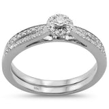 .27cts 14k White gold Diamond Engagement Bridal Set Promise Ring Size 6.5