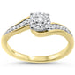 .16ct 14KT Yellow Gold Round Diamond Solitaire Cluster Ring Size 6.5