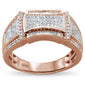 .43cts 10k Rose Gold Men's Diamond Wedding Band Ring size 10