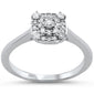 .25cts 14k White gold Diamond Solitaire Engagement Promise Ring