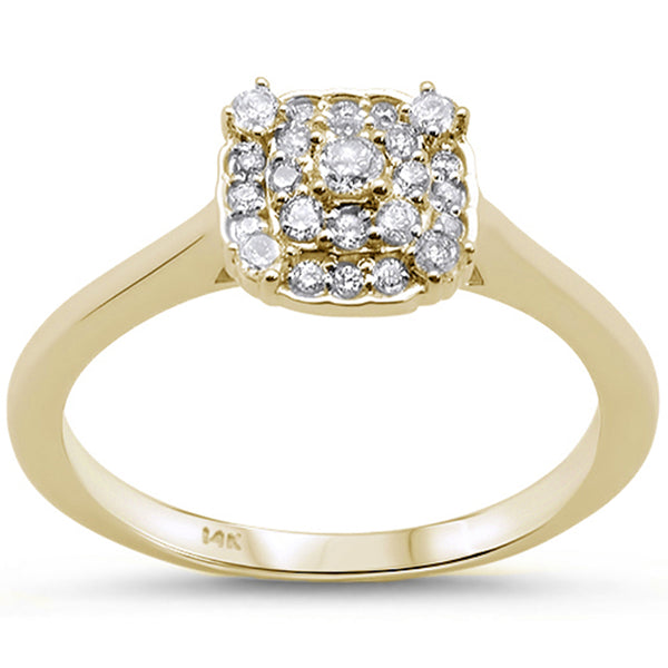 .24cts 14k Yellow Gold Diamond Engagement Solitaire Ring Size 6.5