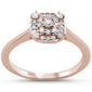 .24cts 14k Rose Gold Diamond Solitaire Engagement Promise Ring Size 6.5