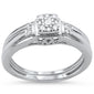 .19cts 14k White gold Square Shape Diamond Engagement Ring Bridal Set