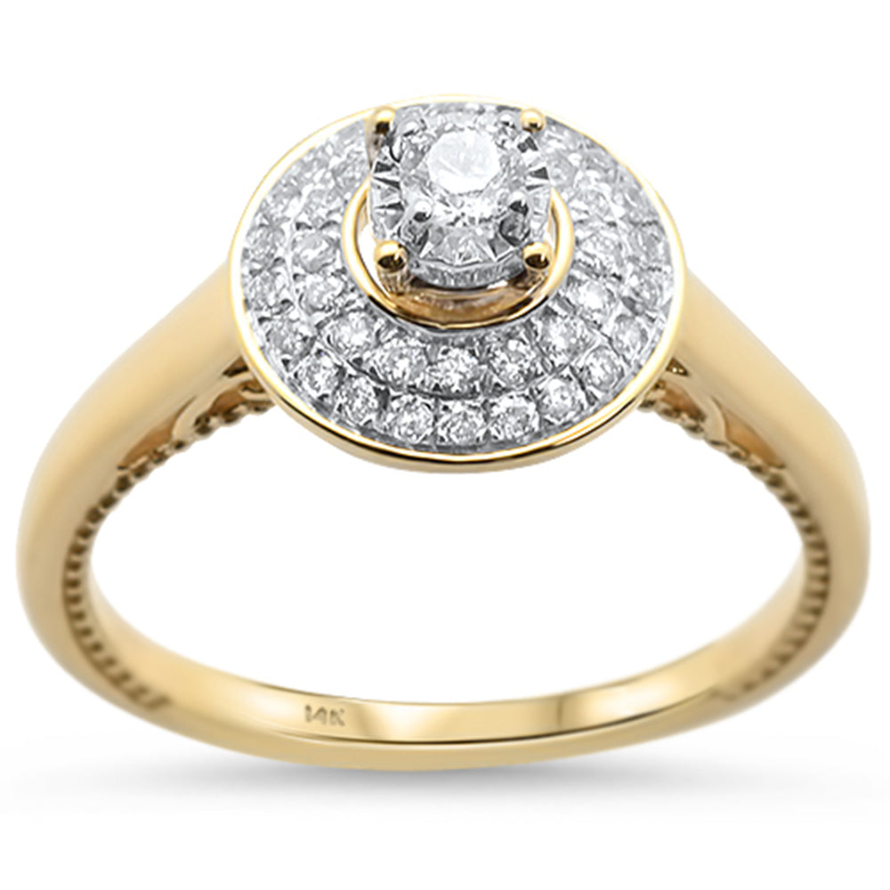 .31cts 14k Yellow Gold Diamond Solitaire Engagement Promise Ring Size 6.5