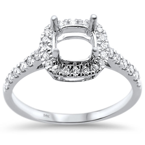 .41ct 14k White Gold Diamond Semi Mount Engagement Wedding Ring Size 6.5