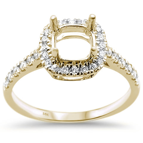 .41ct 14k Yellow Gold Diamond Semi Mount Engagement Wedding Ring Size 6.5