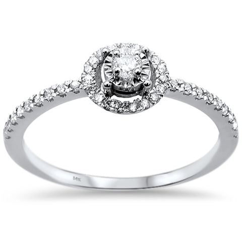 .25ct 14k White Gold Diamond Promise Engagement Wedding Ring Size 6.5