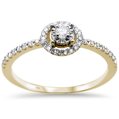 .24ct 14k Yellow Gold Diamond Promise Engagement Wedding Ring Size 6.5