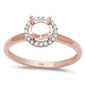 .09ct 10k Rose Gold Halo Semi-Mount Ring Size 6.5