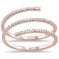.22ct 14kt Rose Gold Wraparound Trendy Diamond Ring Size 6.5