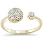 .13ct 14kt Yellow Gold Trendy Open Diamond Ring Size 6.5