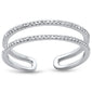 .13ct 14kt White Gold Diamond Double Band Open Ring Size 6.5