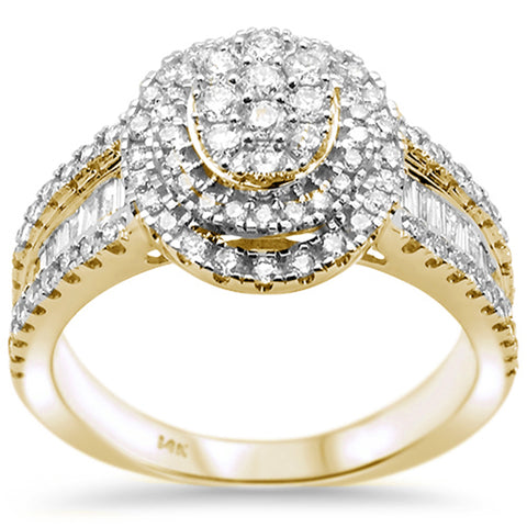 1.00ct 14k Yellow Gold Oval Shape Diamond Engagement Ring Size 6.5
