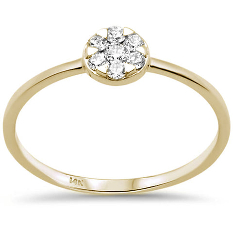 .17ct F SI 14K Yellow Gold Round Diamond Solitaire Promise Engagement Ring