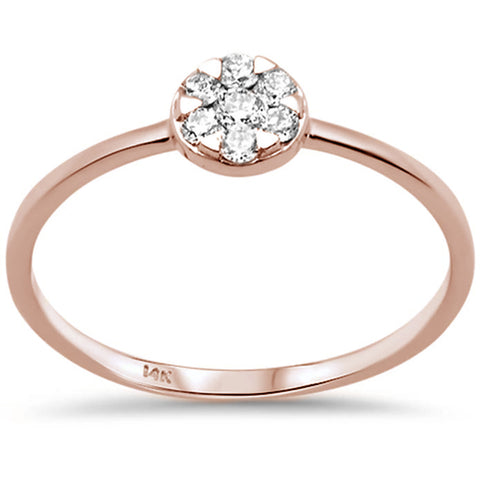 .17ct F SI 14K Rose Gold Round Diamond Solitaire Promise Engagement Ring