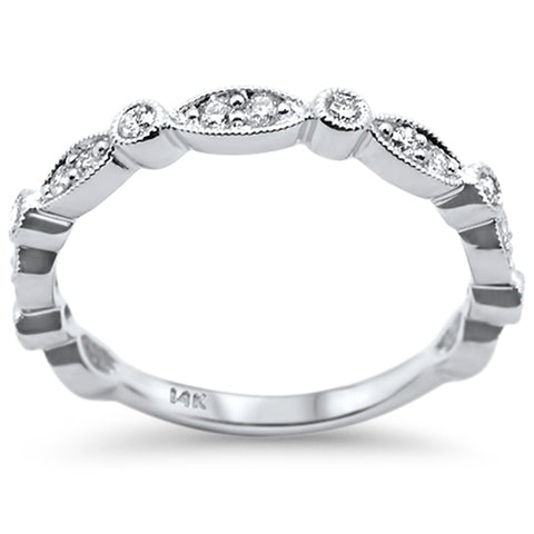 .26ct 14k White Gold Diamond Stackable Wedding Anniversary Band Ring