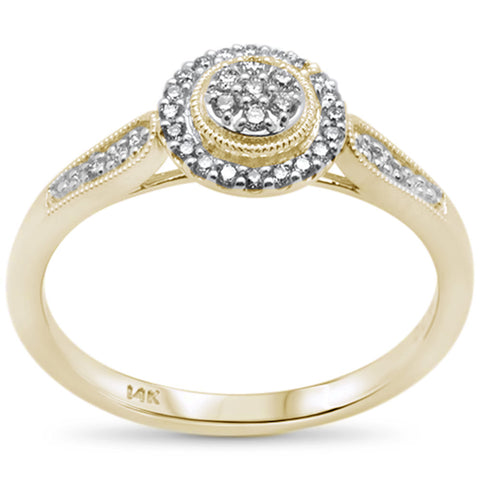 .16ct F SI 14K Yellow Gold Round Diamond Engagement Ring Size 6.5