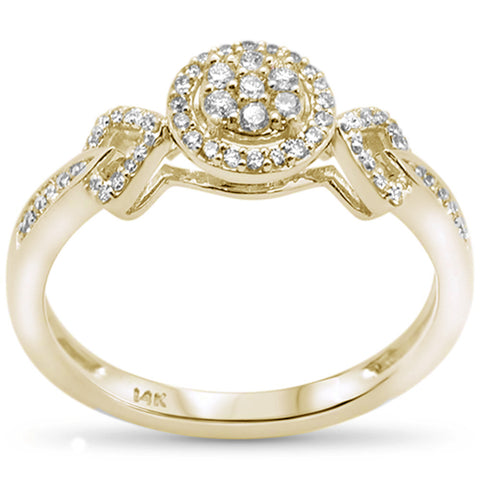 .25ct F SI 14K Yellow Gold Round Diamond Engagement Ring Size 6.5