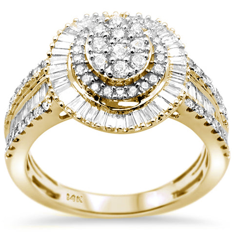 1.02ct 14k Yellow Gold Oval Shape Diamond Engagement Ring Size 6.5