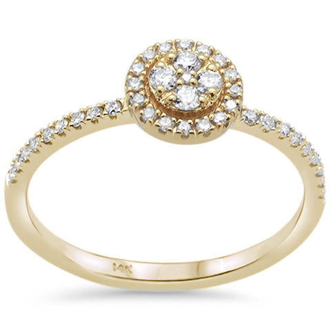 .25ct F SI 14K Yellow Gold Round Diamond Solitaire Engagement Ring Size 6.5
