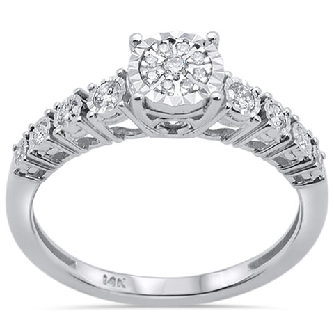 .23ct 14k White Gold Diamond Engagement Solitaire Ring Size 6.5