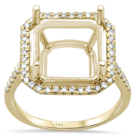 .37ct 14K Yellow Gold Diamond Semi Mount Ring Size 6.5